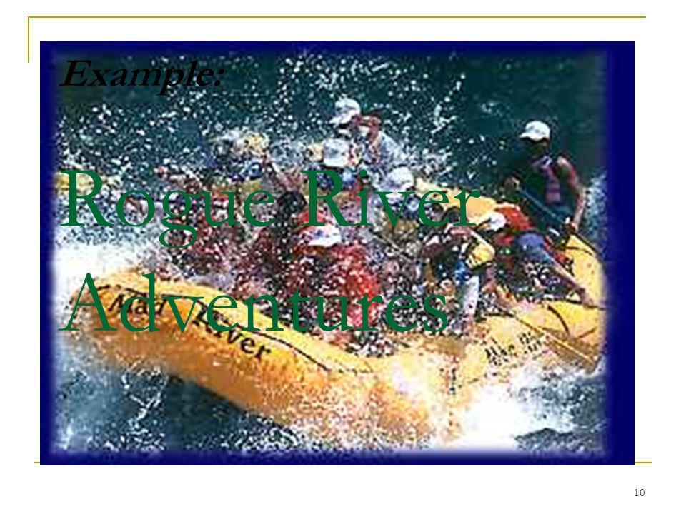 10 Example: Rogue River Adventures
