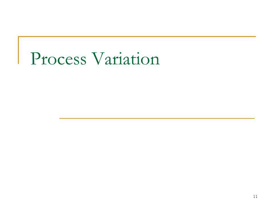 11 Process Variation