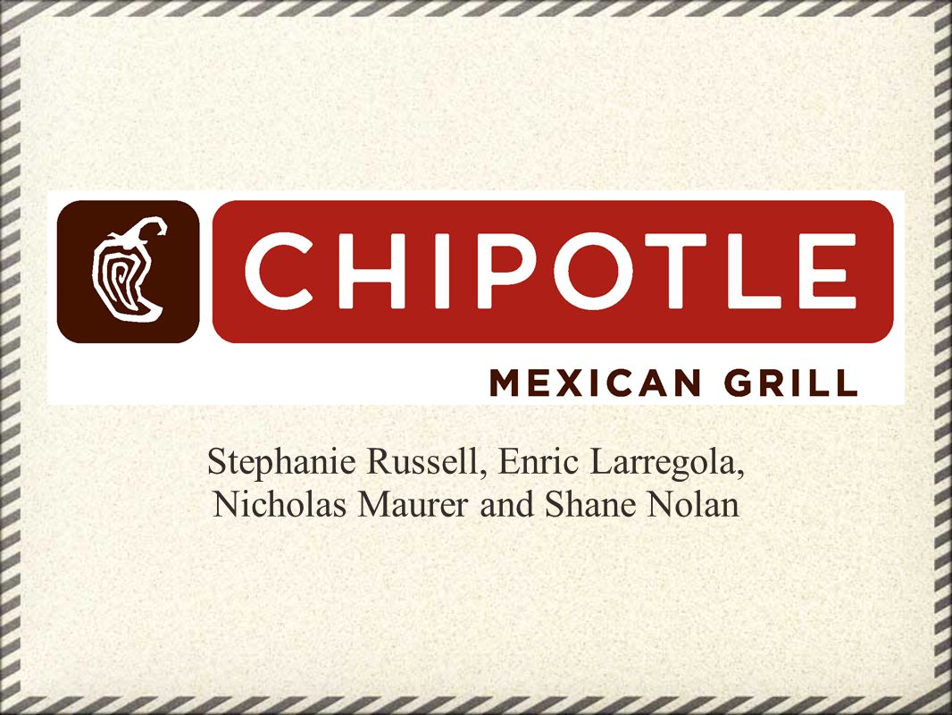 Entry of New Competitors: (low) Hard to successfully enter the industry (very high failure rate) Already fierce competition o Very difficult to compete with such big companies (Chipotle, MCD, Wendys/Arbys, Yum Brands)