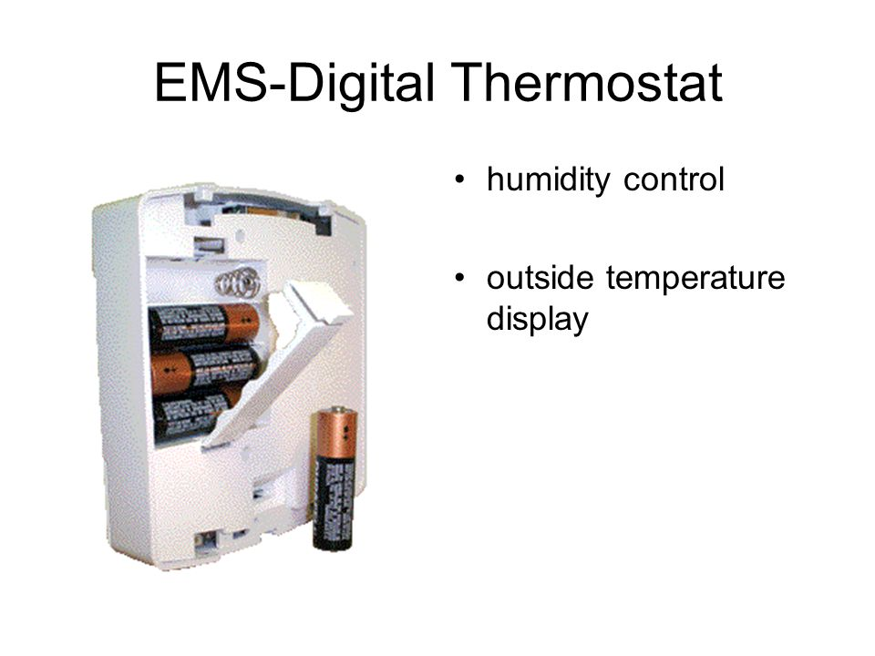 EMS-Digital Thermostat humidity control outside temperature display