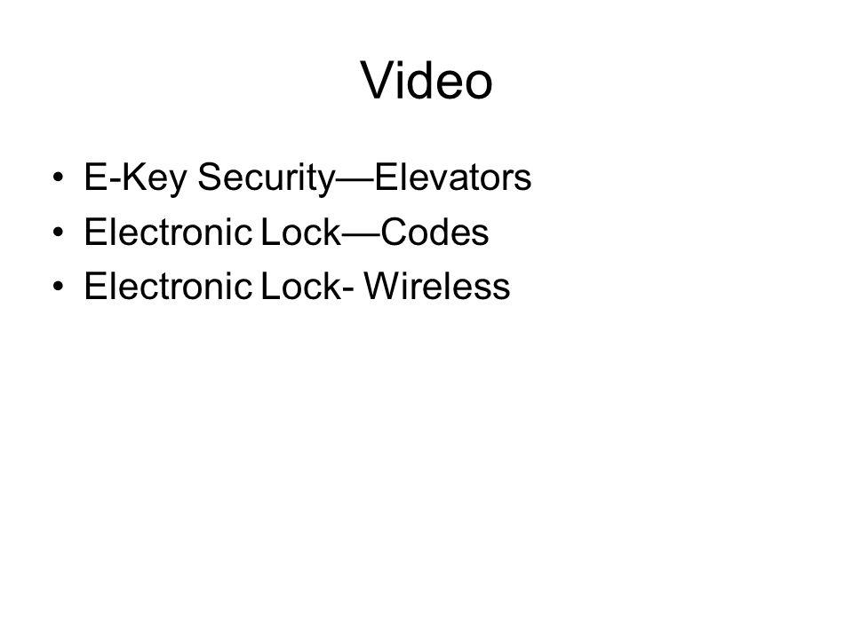 Video E-Key SecurityElevators Electronic LockCodes Electronic Lock- Wireless