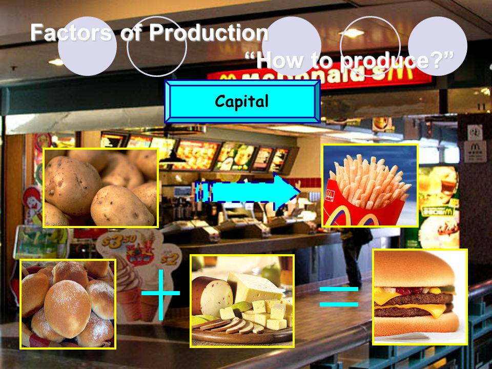 Factors of Production How to produce Capital