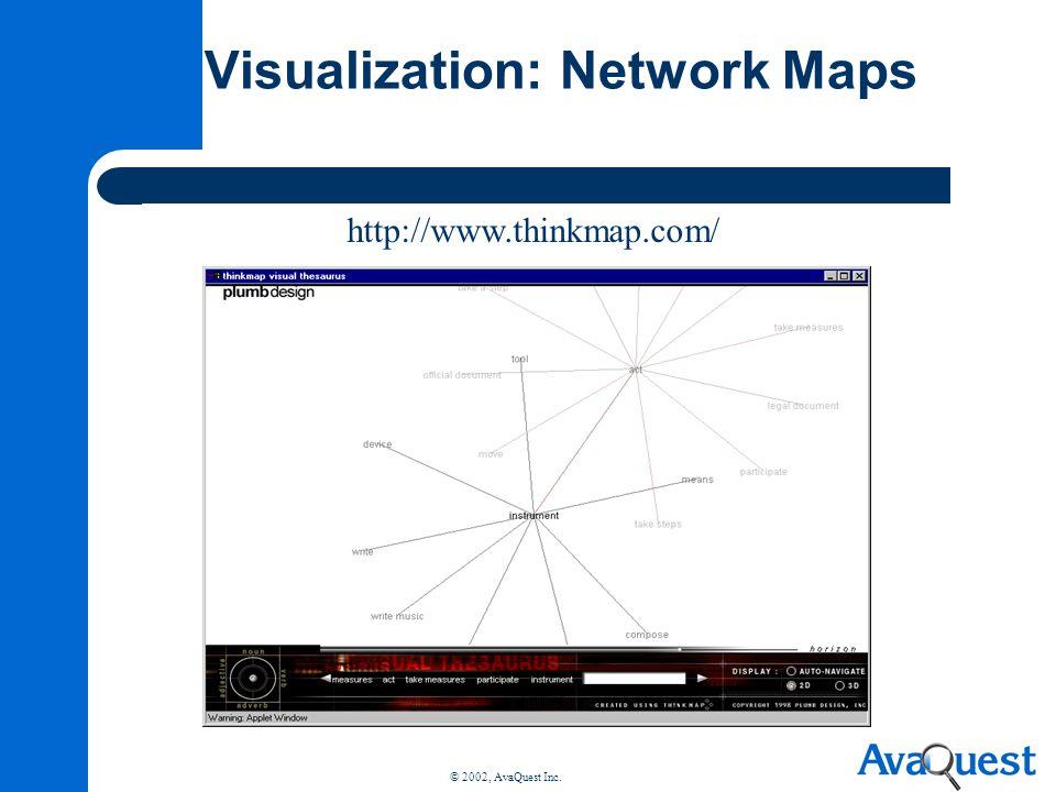 © 2002, AvaQuest Inc. Visualization: Network Maps http://www.thinkmap.com/