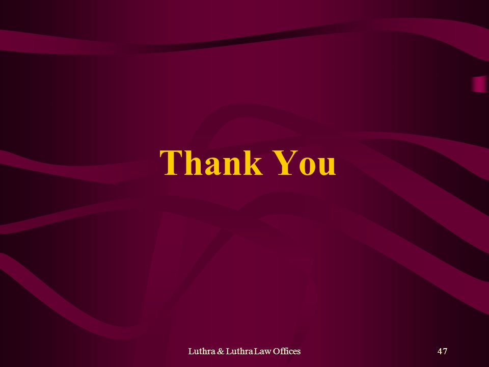 Luthra & Luthra Law Offices47 Thank You