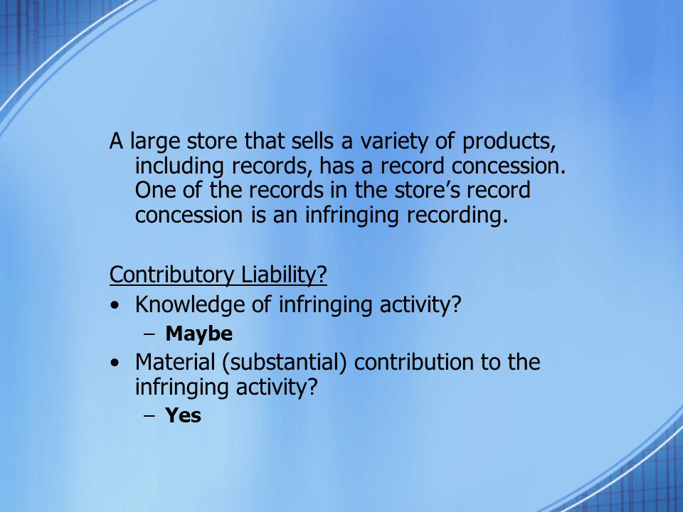 A large store that sells a variety of products, including records, has a record concession.