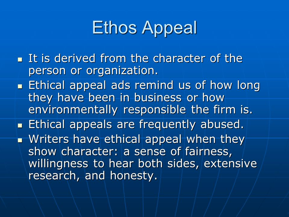 Pathos Appeal It is derived from emotional state.It is derived from emotional state.