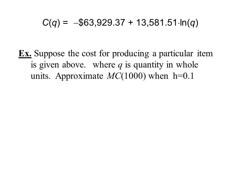 Derivatives Project (Maximum Profit) - Maximum profit occurs when MP(q) = 0 - Max profit occurs when MR(q) = MC(q) & MP(q) changes from positive to negative - Estimate quantity from graph of Profit - Estimate quantity from graph of Marginal Profit