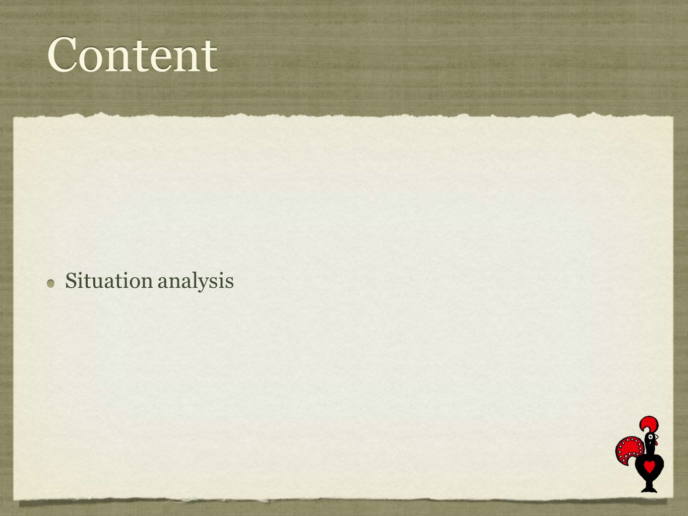 Content Situation analysis