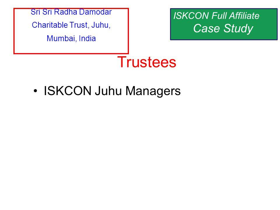 ISKCON Juhu Managers Trustees Sri Sri Radha Damodar Charitable Trust, Juhu, Mumbai, India ISKCON Full Affiliate Case Study
