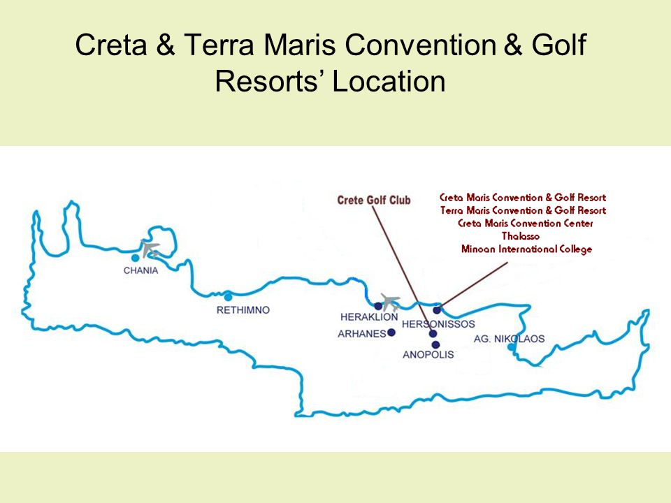 Creta Maris Convention & Golf Resort 534 Rooms: 215 Bungalows 22 Junior Suites 16 Family Rooms 14 Rooms for Disabled 1 Suite On The Rocks 1 Ambassador Suite 1 Presidential Suite 1 Panorama Suite