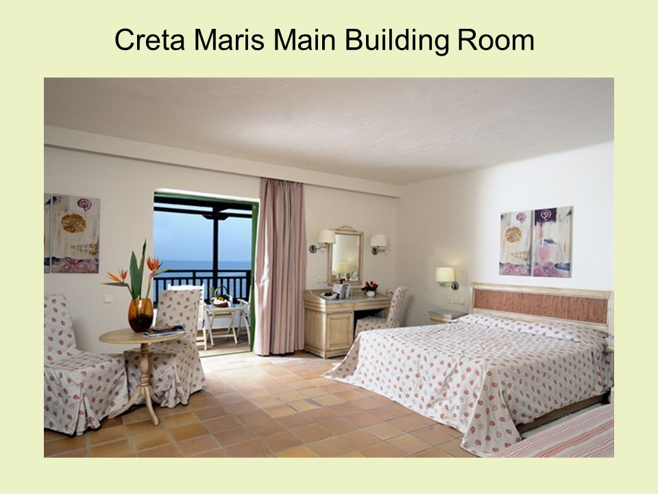 Central Office: Greece, Crete, 700 14 Hersonissos Terra Maris Hotel Tel: +30 28970 27110, Fax: +30 28970 27119 mice-sales@maris.gr, http://www.maris.gr Athens Office: Greece, Athens, 106 75, 8 Rigillis Street Tel: +30 210 8963664, Fax: +30 210 8962360 mice-sales@maris.grhttp://www.maris.gr High quality accommodation and expertise combine with traditional Cretan hospitality to make Creta & Terra Maris Convention & Golf Resorts the obvious choice for holidays, conferences and meetings.
