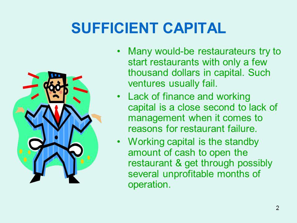 33 RESTAURANT WORTH 2 Potential Values: –Real estate value.