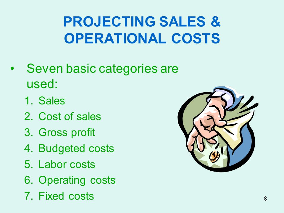 9 FORECASTING SALES Sales forecasting for a restaurant is, at best, calculated guesswork.