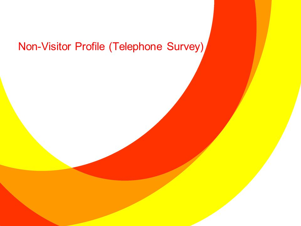 Non-Visitor Profile (Telephone Survey)