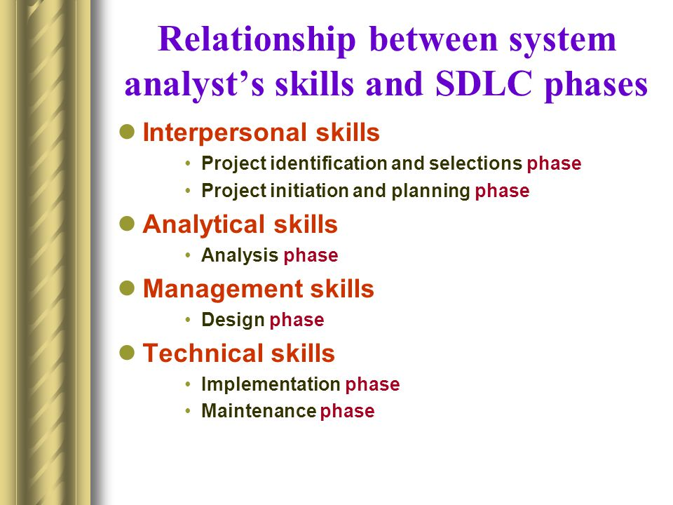 Analytical skills for System analysts We will focus on four sets of analytical skills.
