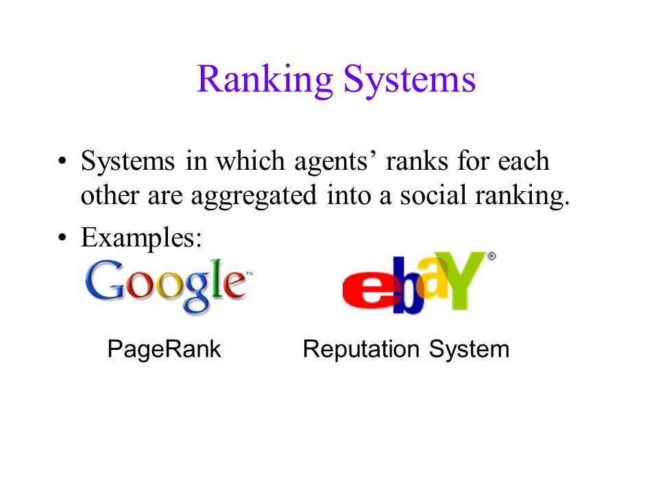 Intermediate Summary Ranked IIA Incentive Compatibility Strong Quasi- Transitivity α -Rank Strong Transitivity Personalized PageRank distance .
