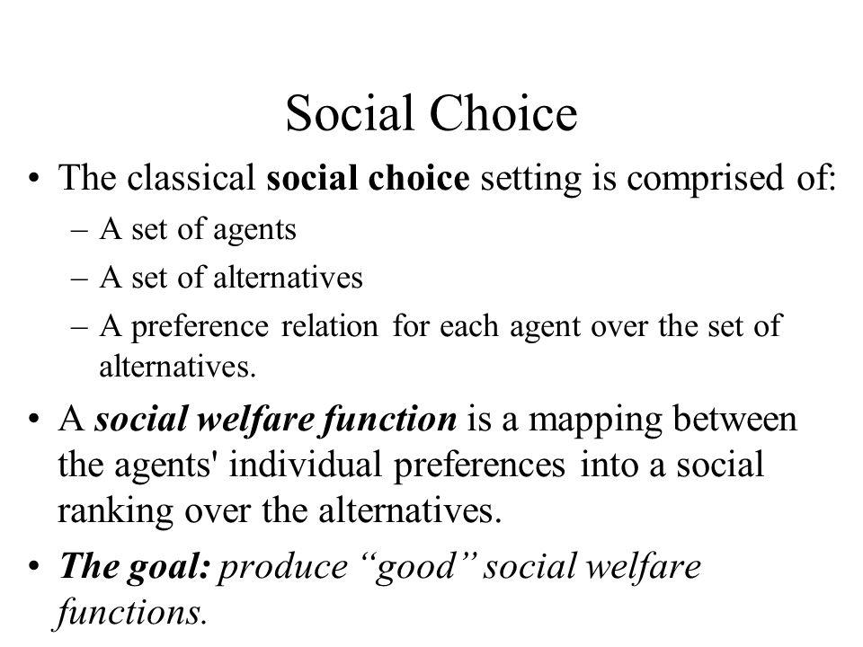 Social Choice - Example
