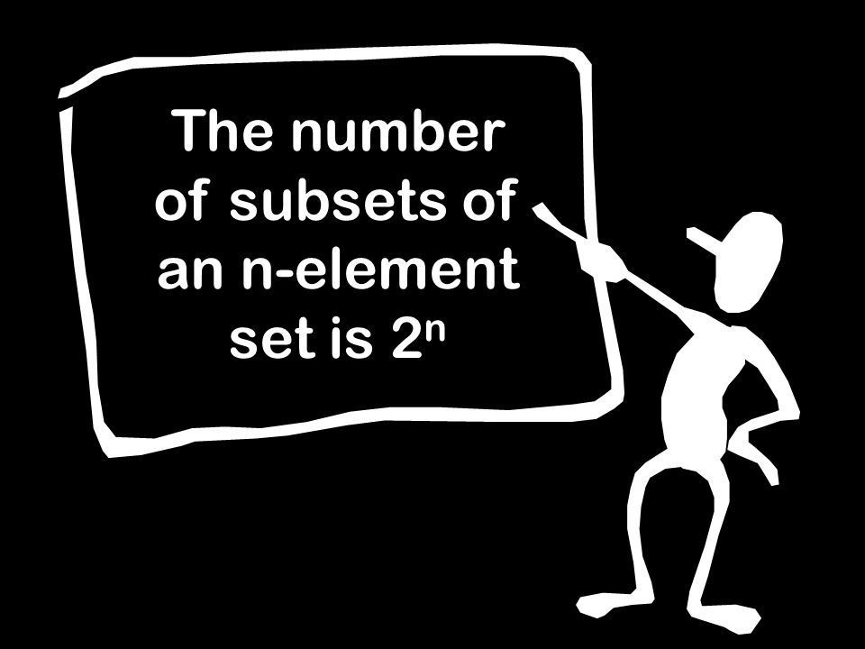 The number of subsets of an n-element set is 2 n