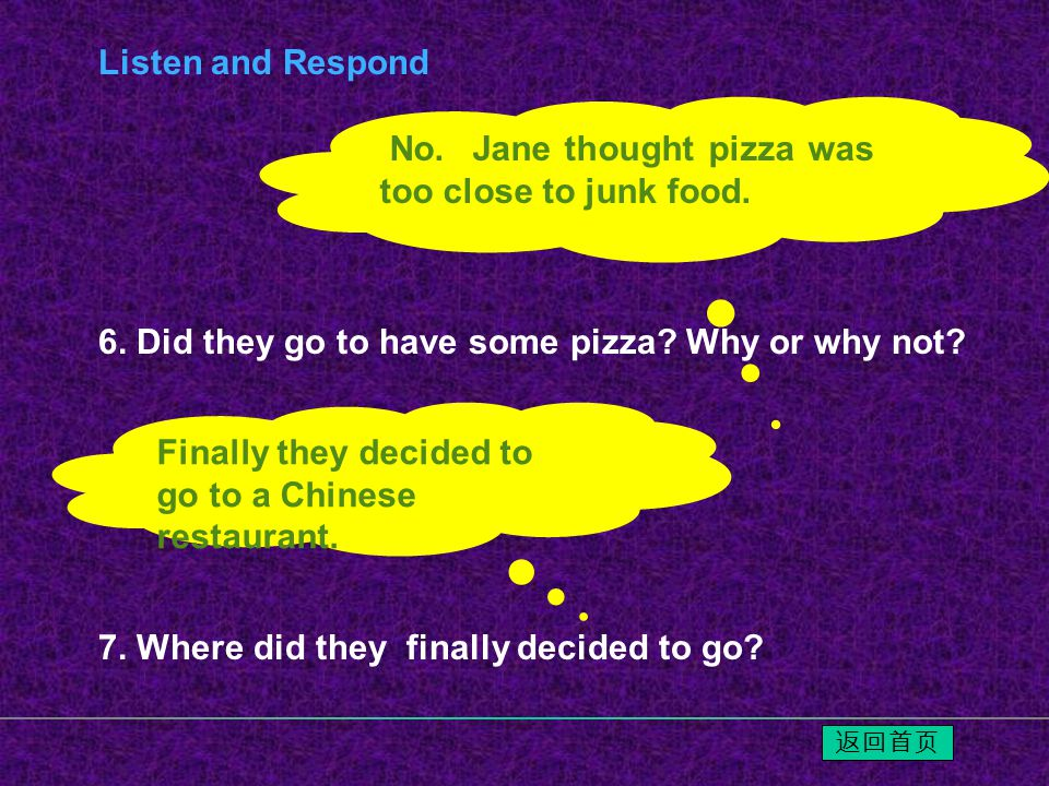 6.Did they go to have some pizza. Why or why not.