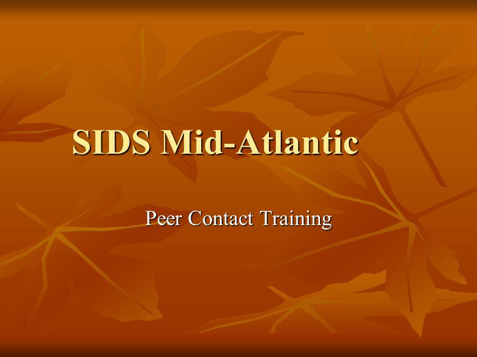 SIDS Mid-Atlantic Peer Contact Training
