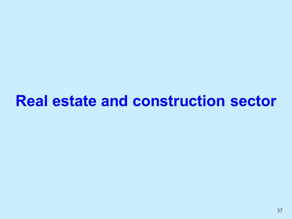 37 Real estate and construction sector