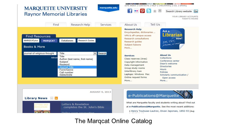 The Marqcat Online Catalog