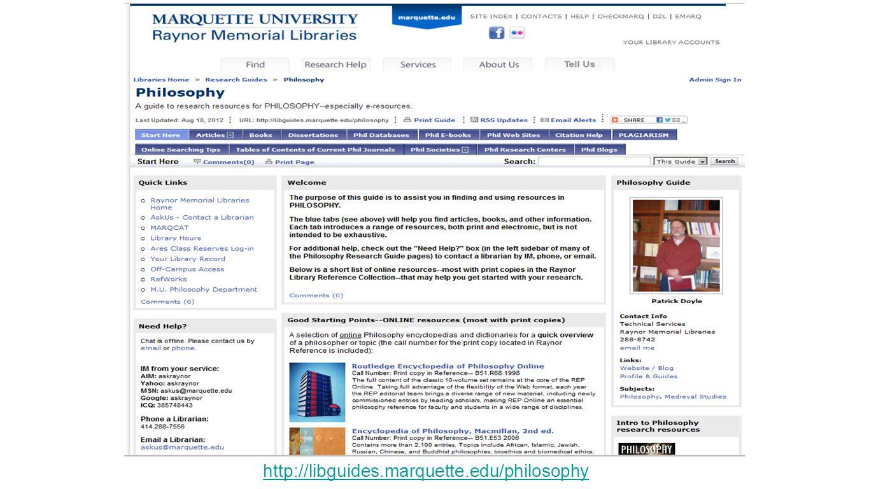 http://libguides.marquette.edu/philosophy