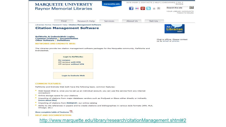 http://www.marquette.edu/library/research/citationManagement.shtml#2