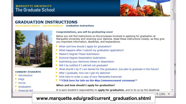 www.marquette.edu/grad/current_graduation.shtml