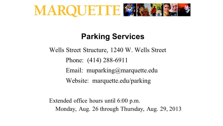 Parking Services Wells Street Structure, 1240 W.