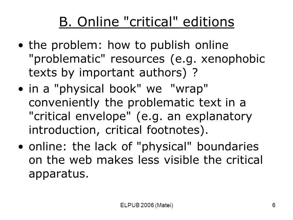 ELPUB 2006 (Matei)6 B. Online