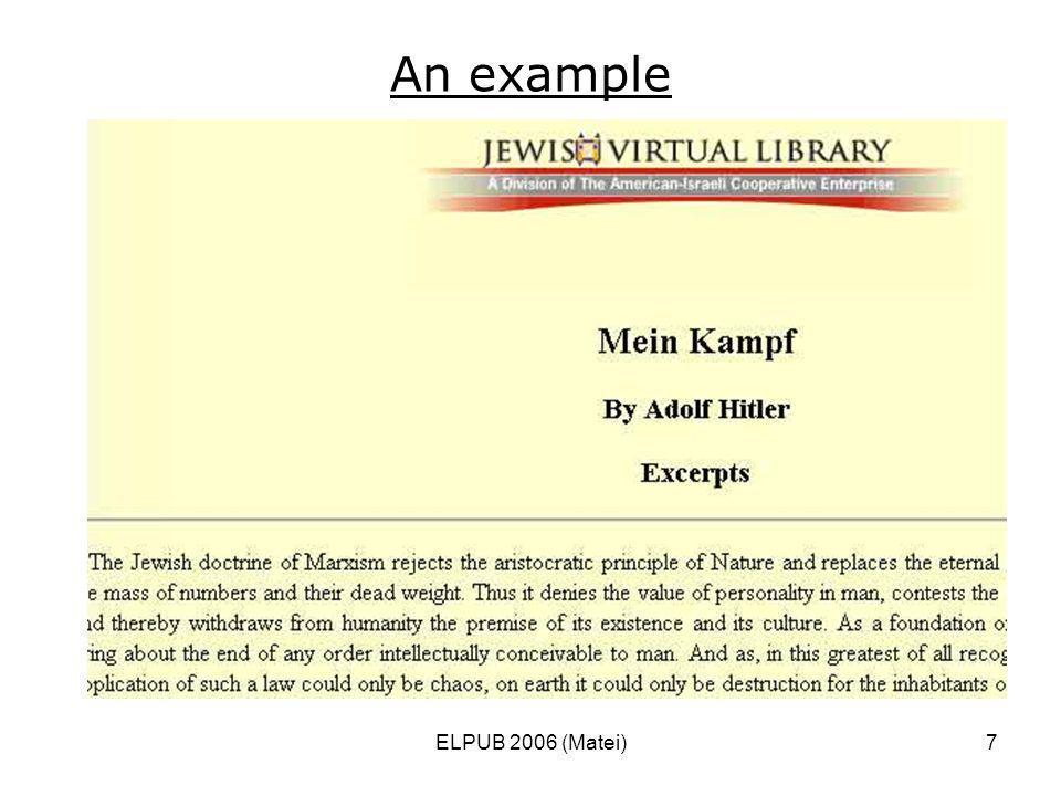 ELPUB 2006 (Matei)7 An example