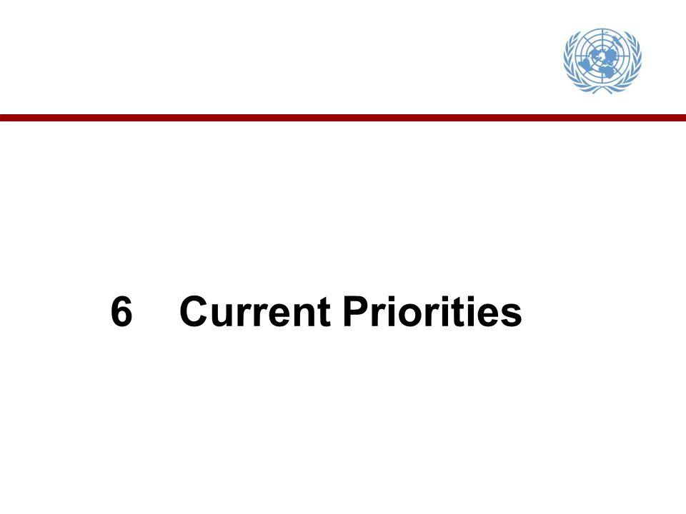 6Current Priorities