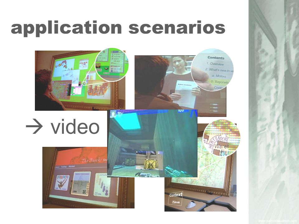 scenario 1: long distances dragging on large screens