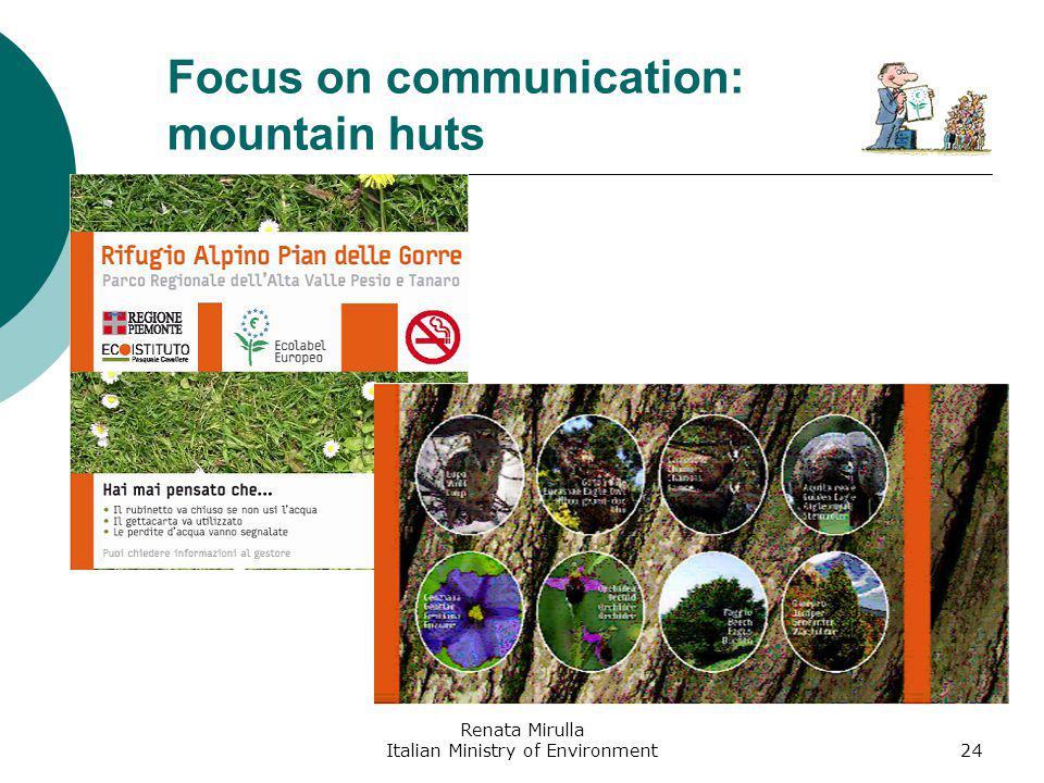 Renata Mirulla Italian Ministry of Environment25 Focus on communication: hotels