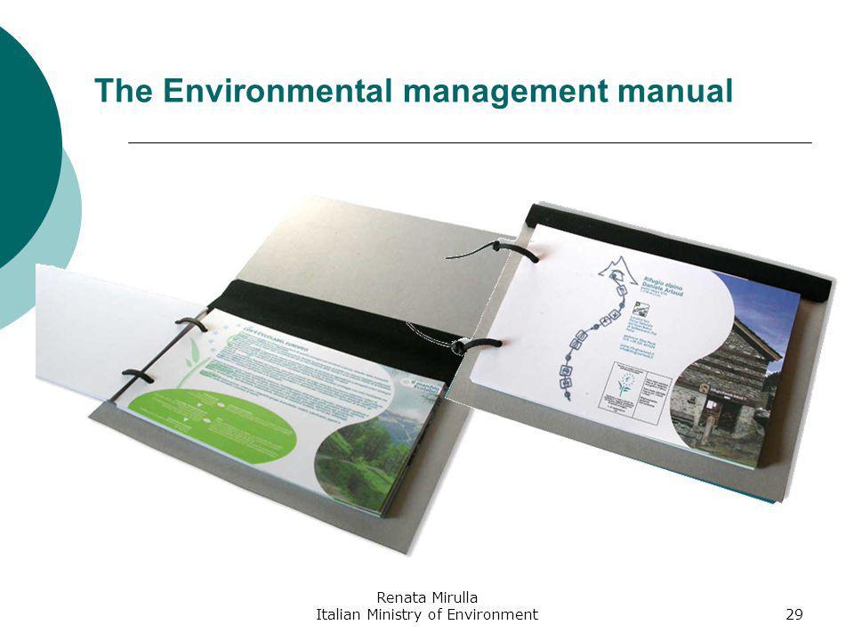 Renata Mirulla Italian Ministry of Environment30 The Web site