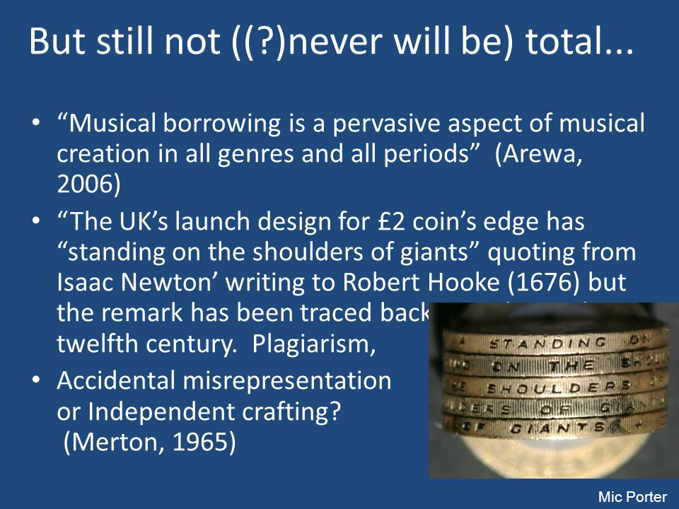 But still not (( )never will be) total...
