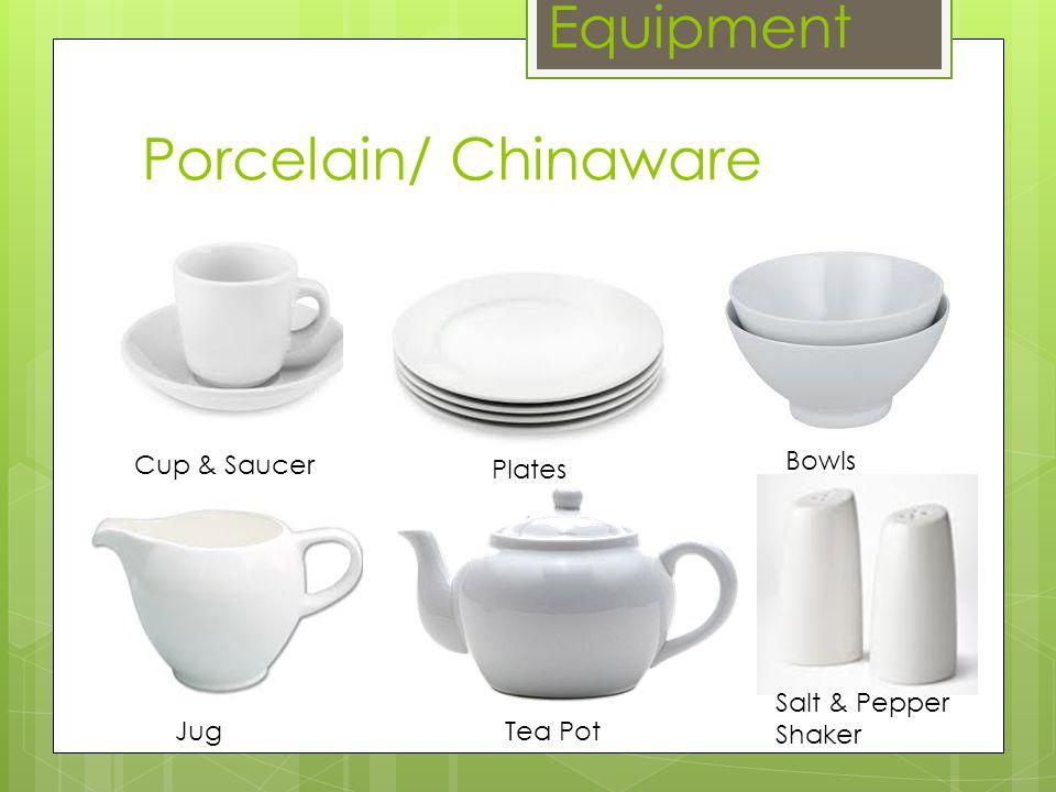 Porcelain/ Chinaware Equipment Cup & Saucer Tea PotJug Plates Bowls Salt & Pepper Shaker