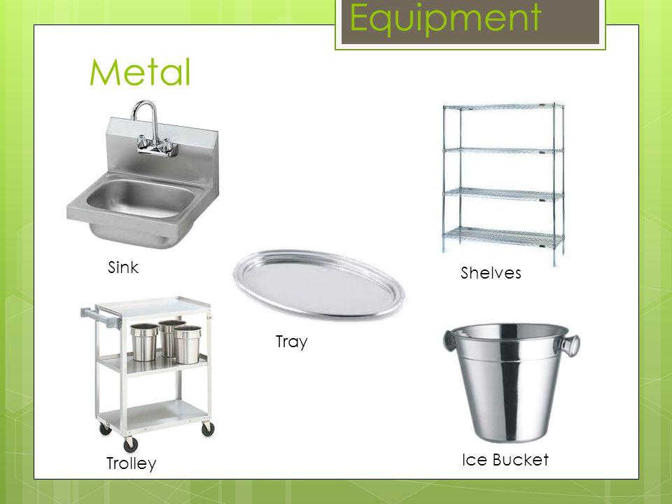 Metal Equipment Sink Shelves Trolley Ice Bucket Tray