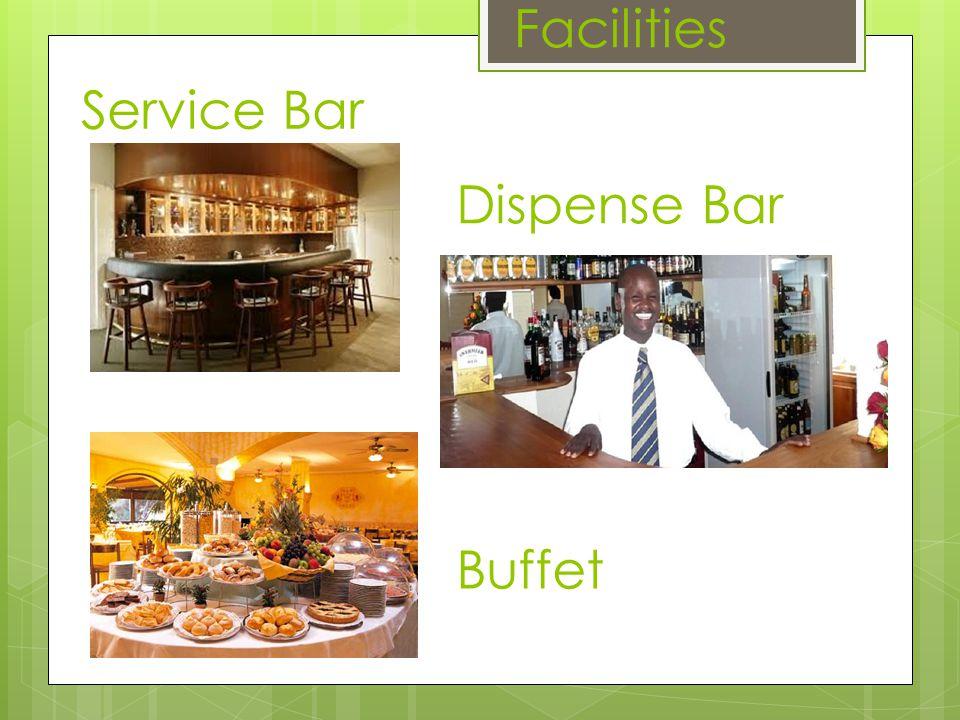 Dispense Bar Facilities Service Bar Buffet