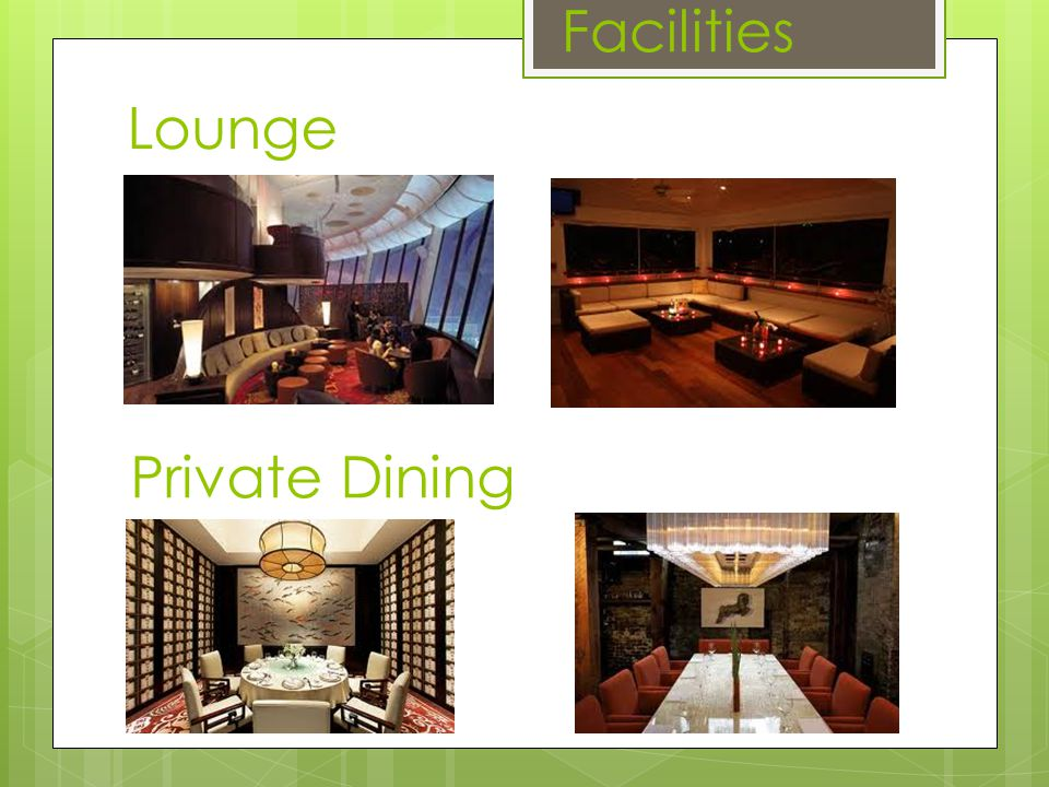 Facilities Lounge Private Dining