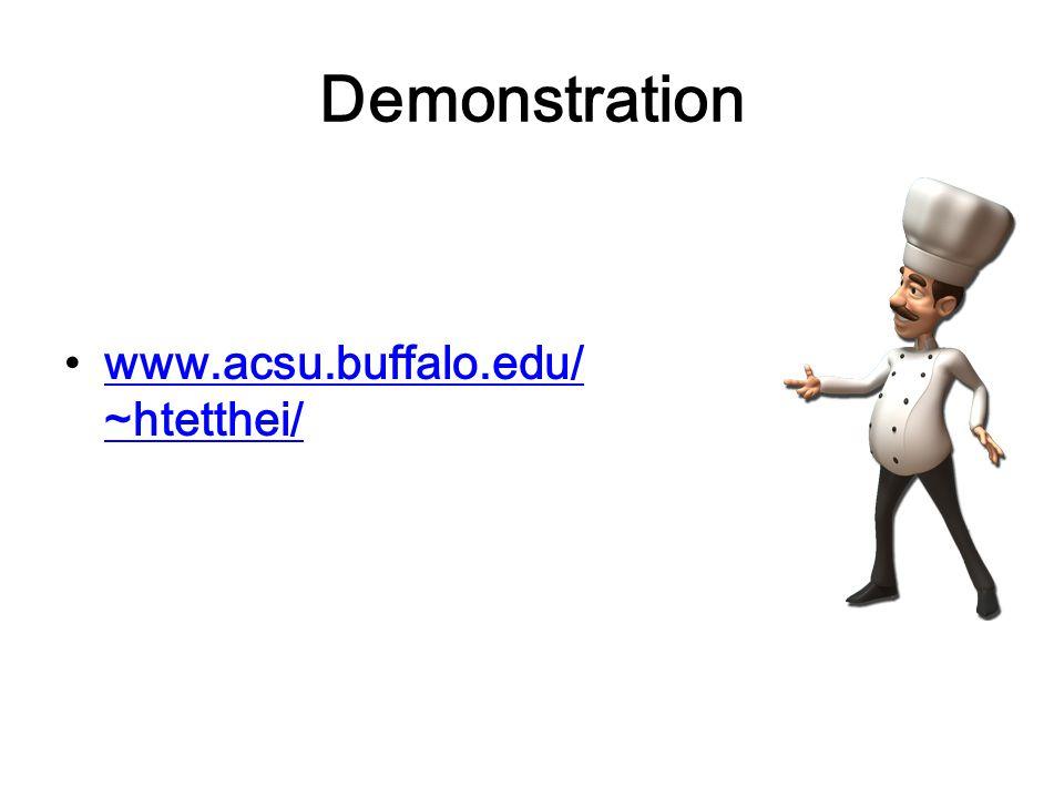 Demonstration www.acsu.buffalo.edu/ ~htetthei/www.acsu.buffalo.edu/ ~htetthei/