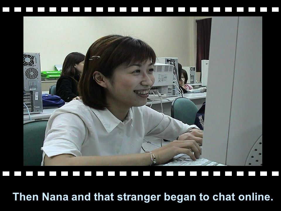 One stranger wanted to chat with Nana.