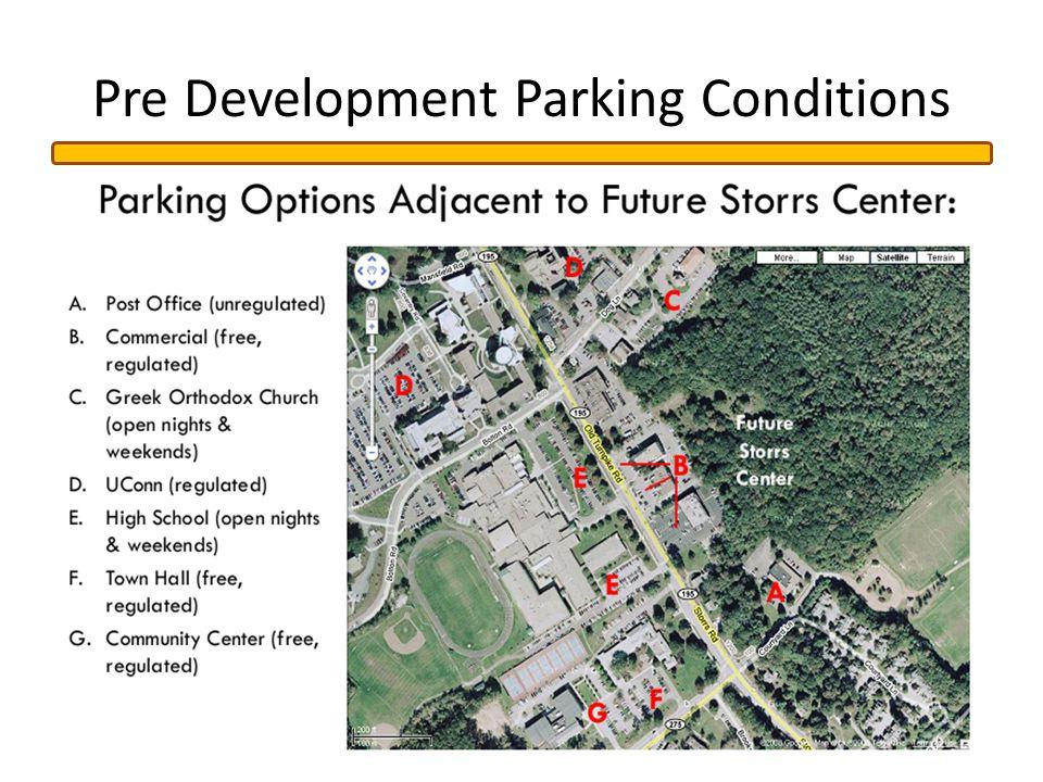Pre Development Parking Conditions