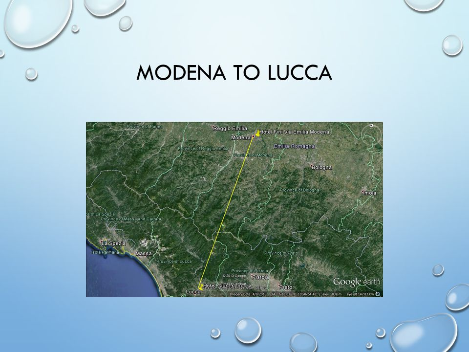 MODENA TO LUCCA