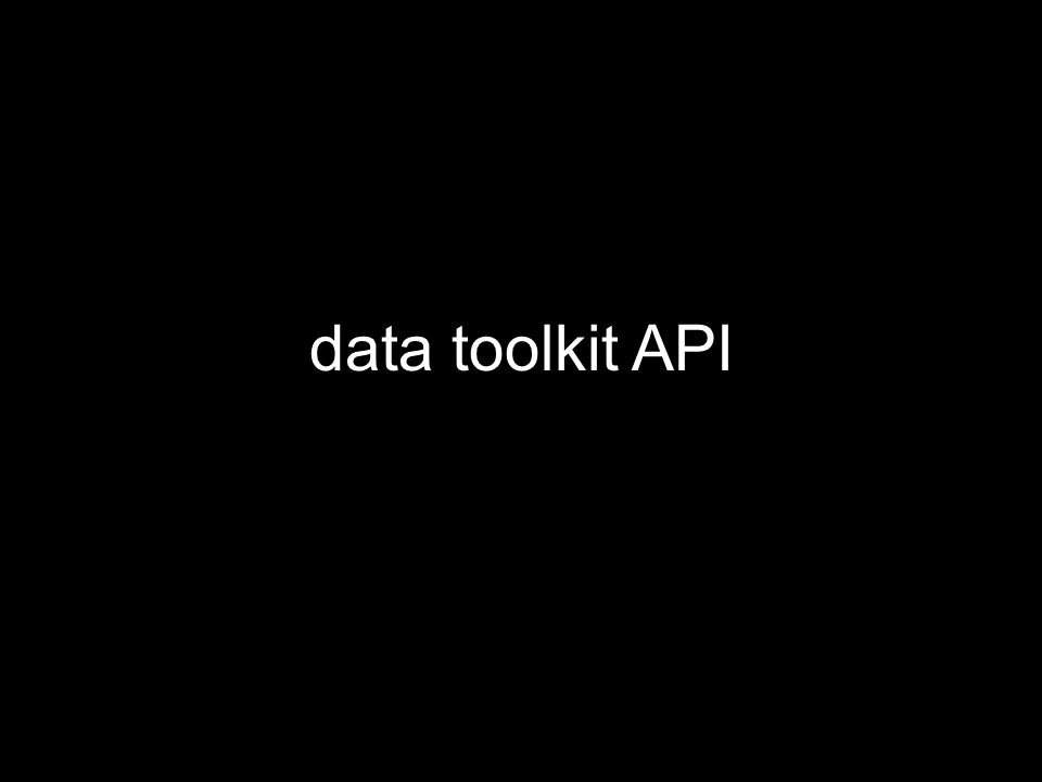 data toolkit API