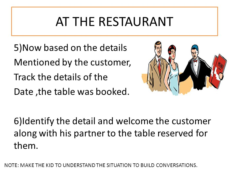 5)Now based on the details Mentioned by the customer, Track the details of the Date,the table was booked.