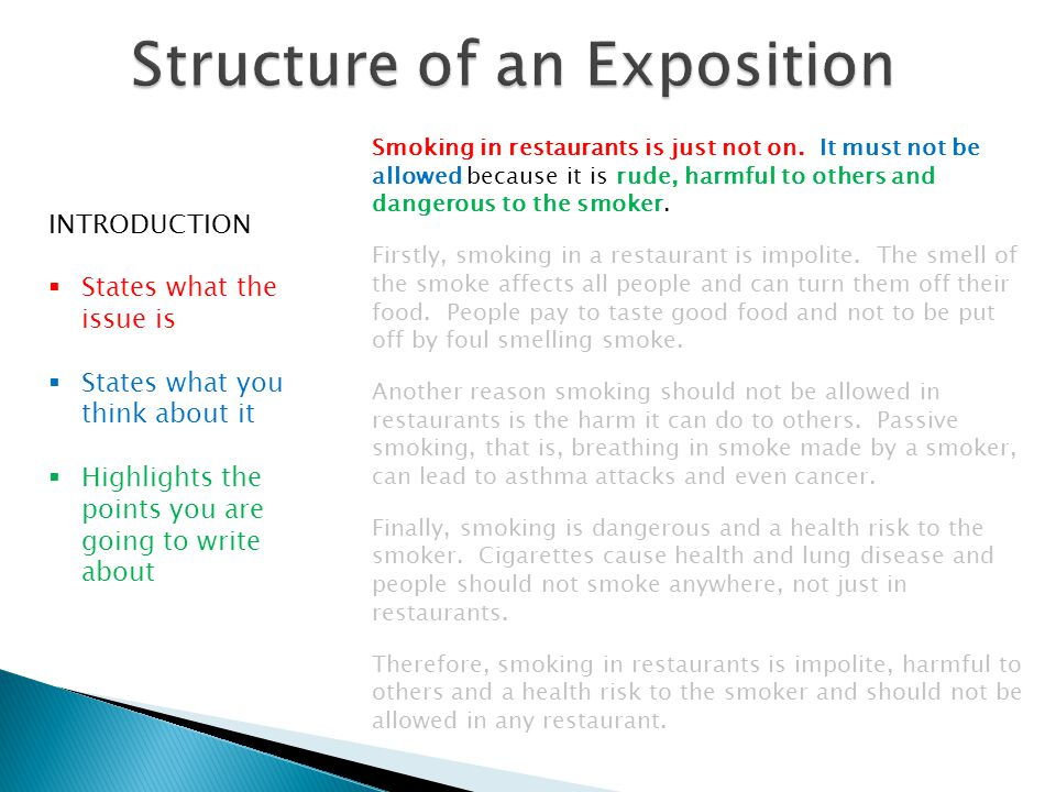 Smoking in restaurants is just not on.