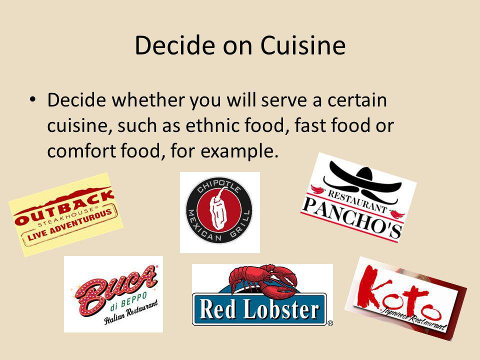 Designing your Restaurant Congratulations again on deciding to open your own restaurant.