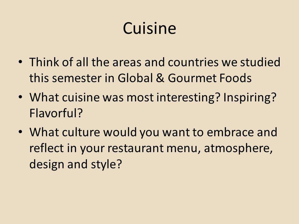 Restaurants Examine the following slides What is the restaurant theme.
